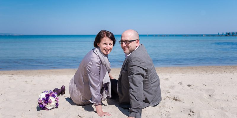 Hochzeitsfotografie Marco Dierbach Foto vom Brautpaar Wedding phtoto Bride and groom Ostseestrand Sellin