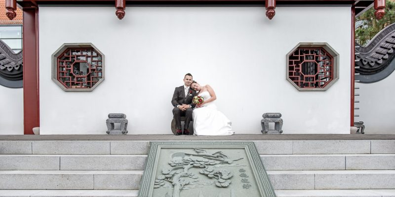 Hochzeitsfoto chinesicher Garten Weißensee  - Hochzeitsfotograf Sömmerda Marco Dierbach